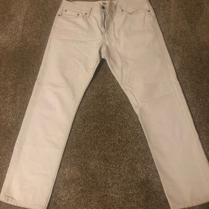 Men's khaki off white pants 36/30